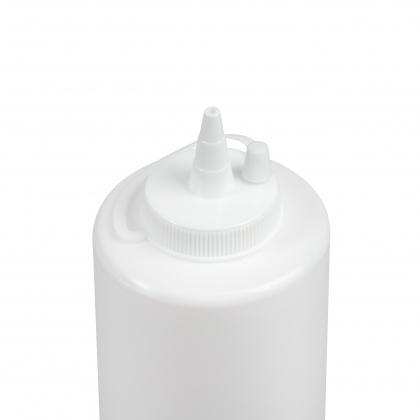 Бутылка для соуса белая (соусник) 700 мл - интернет-магазин КленМаркет.ру