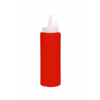 Бутылка для соуса красная (соусник) 250 мл - интернет-магазин КленМаркет.ру