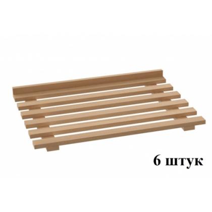 Комплект полок  к ШКАФу для хлеба  ШЗХ-С-800.600-02-Р натуральный бук  к/т 320312 - интернет-магазин КленМаркет.ру