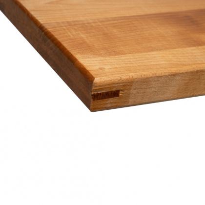 Доска разделочная с деревянными стяжками и шкантами 480-500х300х40 мм бук - интернет-магазин КленМаркет.ру